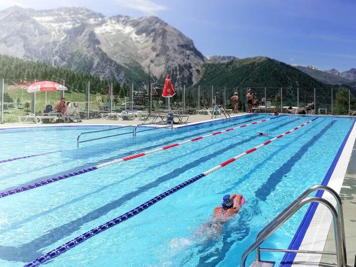 Panorama dalla piscina Sestriere Estate